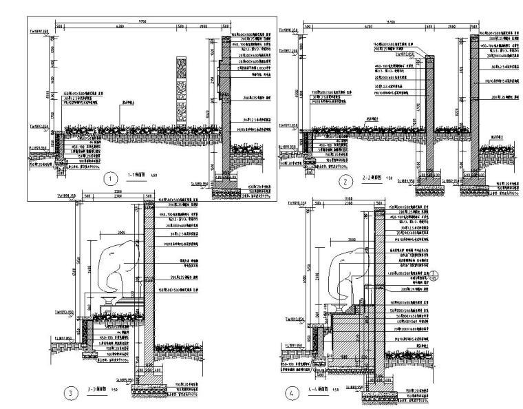 现代风格主入口特色景墙详图设计 (2)