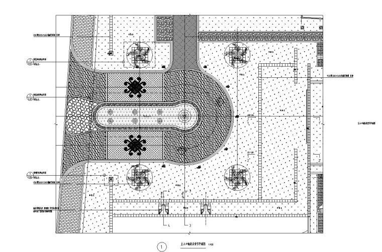 现代风格主入口特色景墙详图设计 (6)