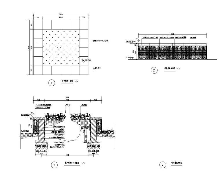 现代风格主入口特色景墙详图设计 (5)