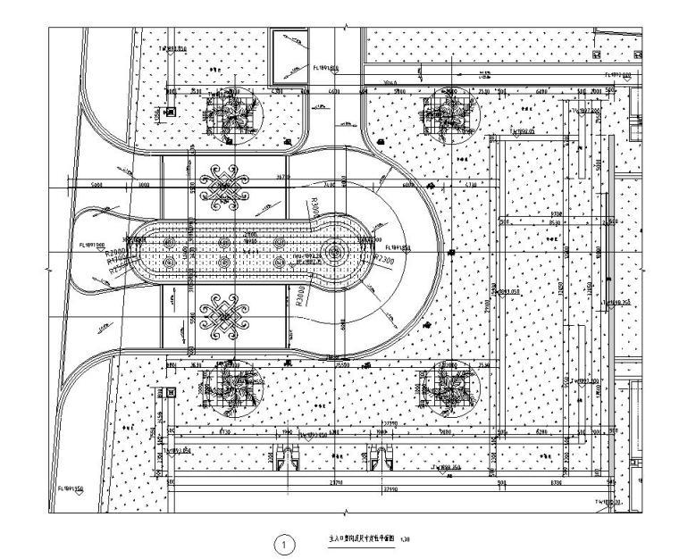 现代风格主入口特色景墙详图设计 (7)