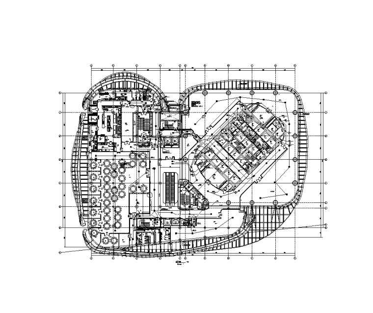 北京13万平金融中心电气智能化水暖施工图-照明平面图