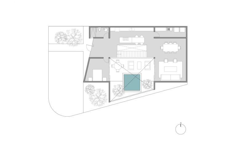墨西哥卡利坎托之家平面图