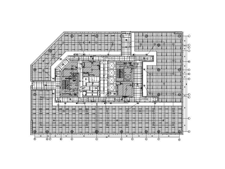 上海虹桥商务区电气装饰深化设计图(2017)-A楼四层火灾报警平面图