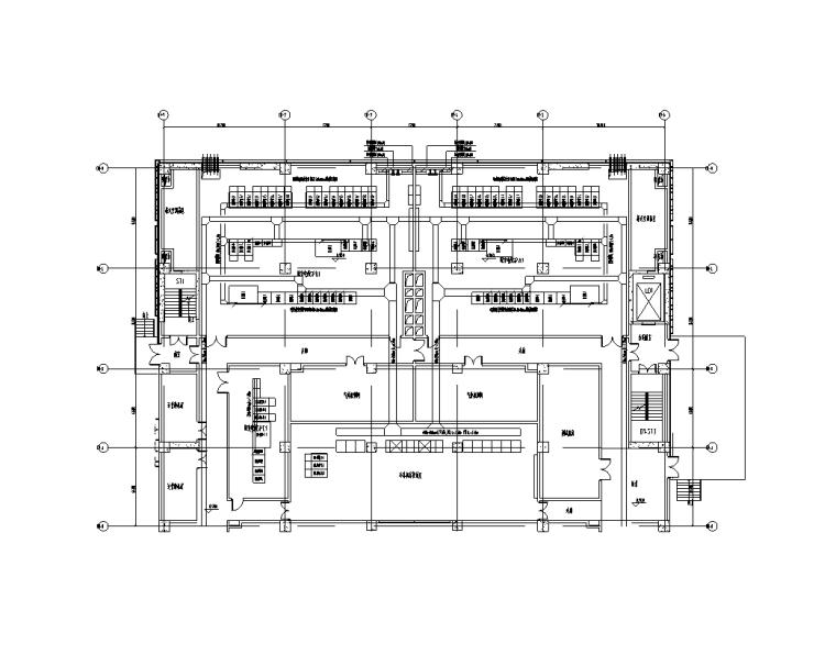上海金融中心全套施工图(建筑结构水暖电)-D1楼一层配变电所电力平面图(二)