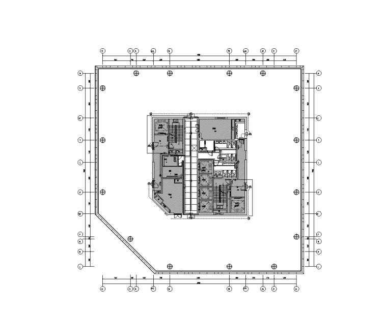 上海虹桥商务区电气装饰深化设计图(2017)-C楼九层应急照明平面图