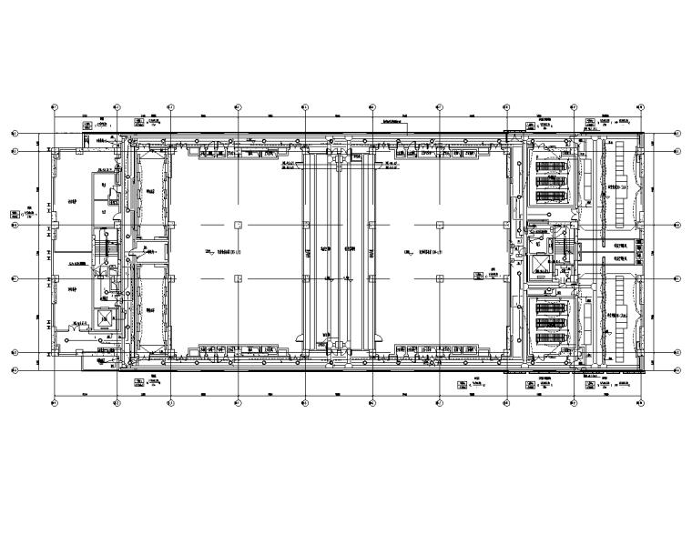 上海金融中心全套施工图(建筑结构水暖电)-照明平面图