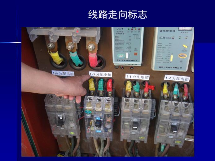 建筑施工现场临时用电及临建房屋管理(PPT)-线路走向标志