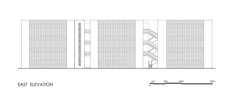 摩洛哥OCP社会教育中心立面图1