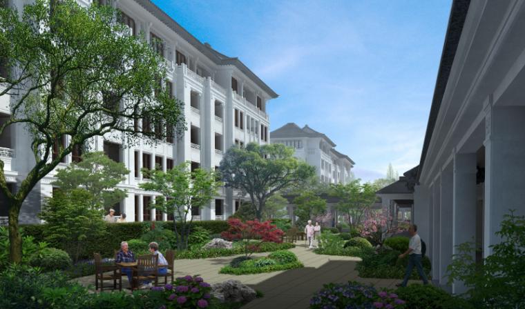[浙江]乌镇社区文化中心老年公寓景观方案-效果图3