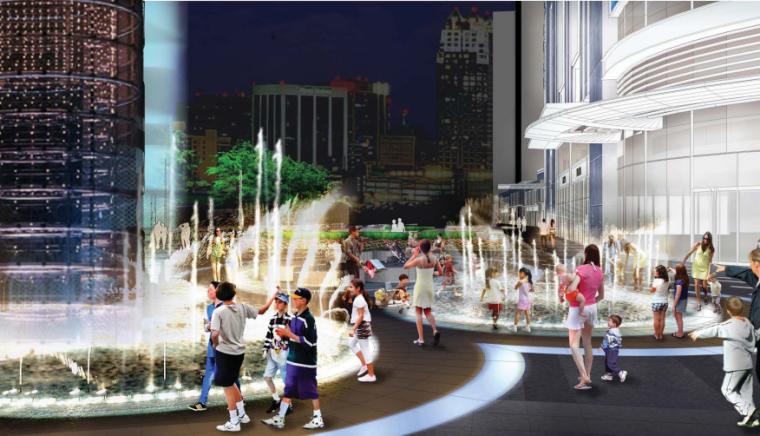 [浙江]杭州商业街广场及屋顶花园景观设计-效果图1