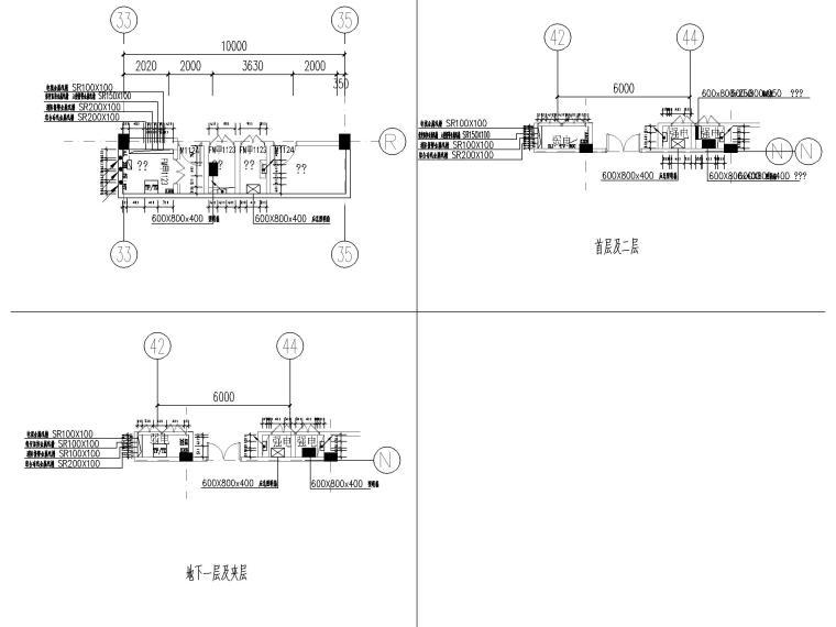 [山东]1.6万平美术馆电气施工图(2016)-11电气竖井大样图