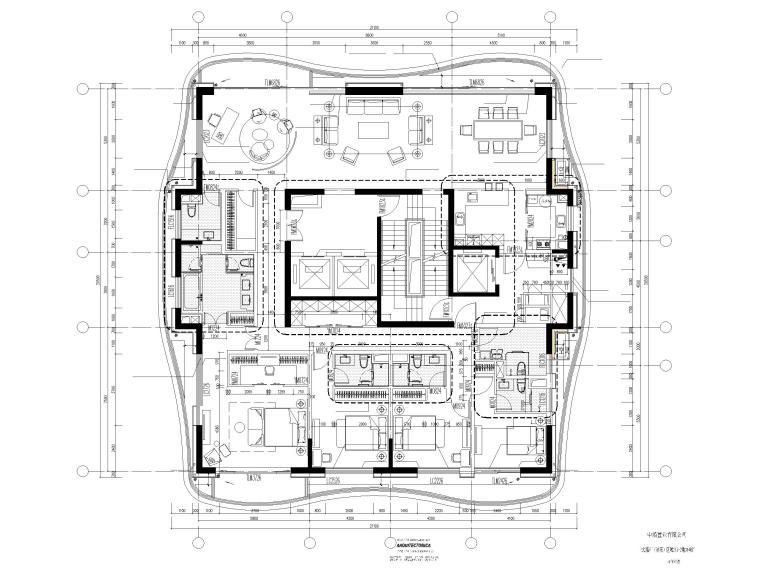 上海船厂十九层高层住宅建筑施工图2017-户型平面图