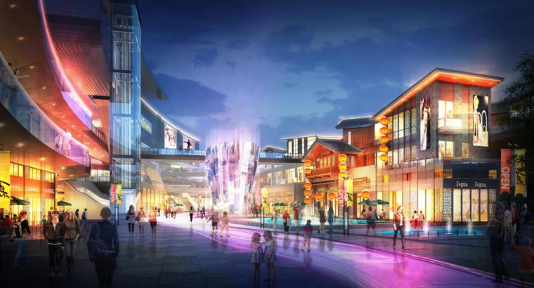[长沙]金科123亩容积率2.4商住混合用地方案-4-长沙凤凰街商业效果图