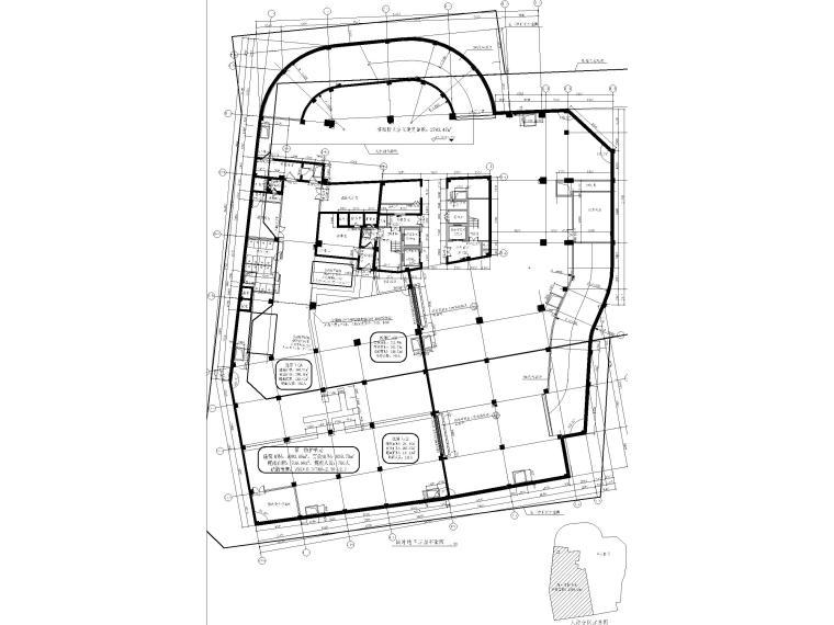 莲湖大厦16层框筒结构办公楼建筑施工图-战时地下三层平面图