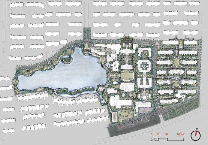 [浙江]乌镇社区文化中心老年公寓景观方案-总平面图