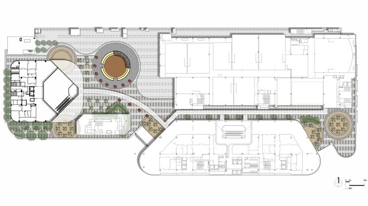 [浙江]杭州商业街广场及屋顶花园景观设计-屋顶花园平面图