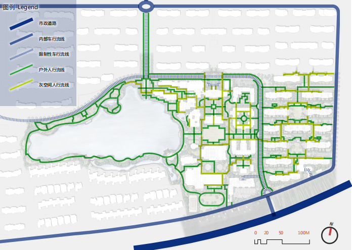[浙江]乌镇社区文化中心老年公寓景观方案-交通流线分析