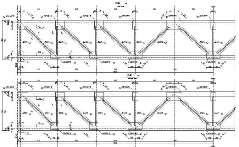 钢结构桁架布置图集CAD-结构大样图