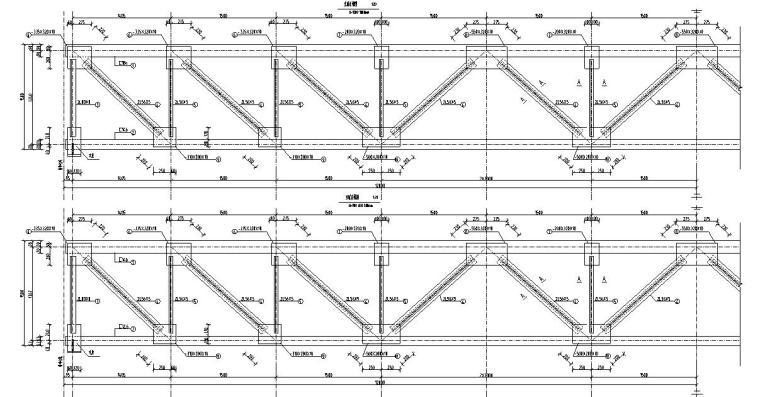 钢结构桁架布置图集CAD-结构大样图2