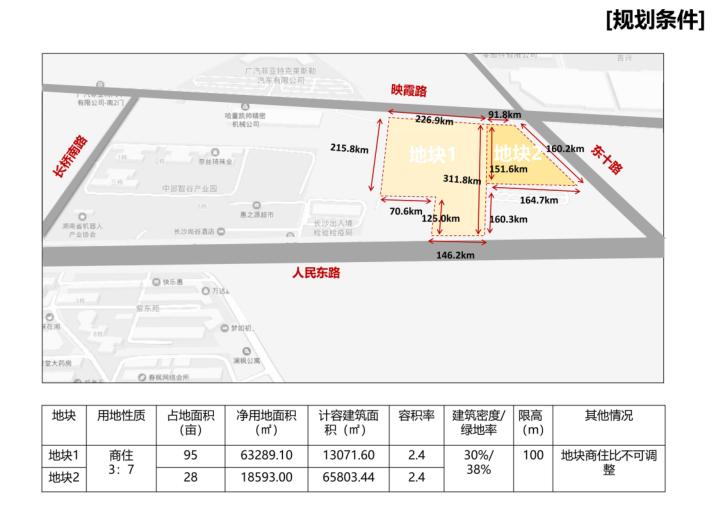 [长沙]金科123亩容积率2.4商住混合用地方案-4-规划条件