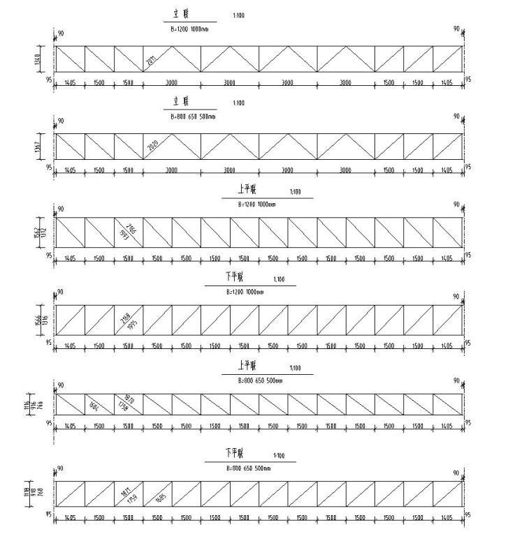 钢结构桁架布置图集CAD-桁架布置图2