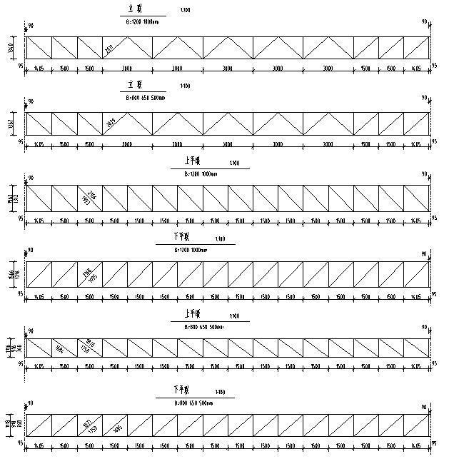 钢结构桁架布置图集CAD-桁架布置图