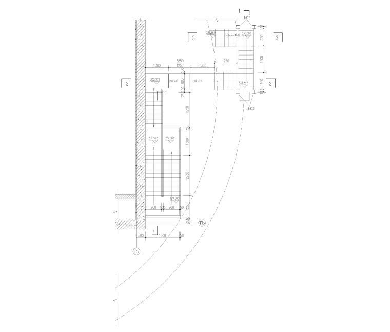 出屋面钢结构楼梯详图(CAD)-出屋面钢梯平面图