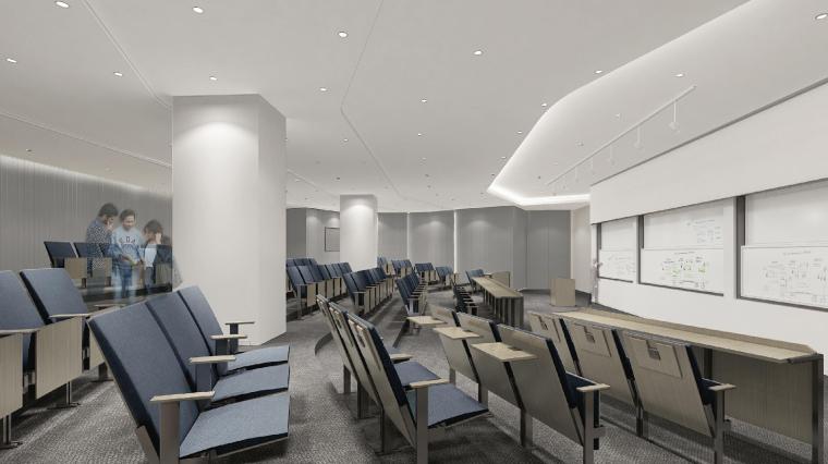 [上海]山鹰国际七层办公空间室内装修施工图-效果图 (3)