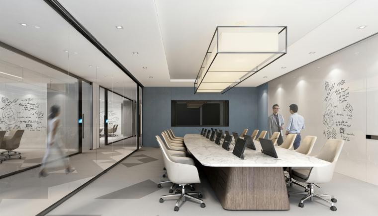 [上海]山鹰国际七层办公空间室内装修施工图-效果图 (7)
