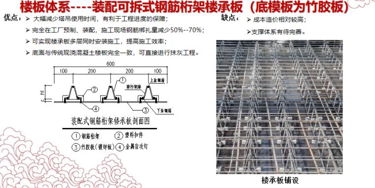 装配式钢结构住宅建筑探索与实践-装配可拆式钢筋桁架楼承板