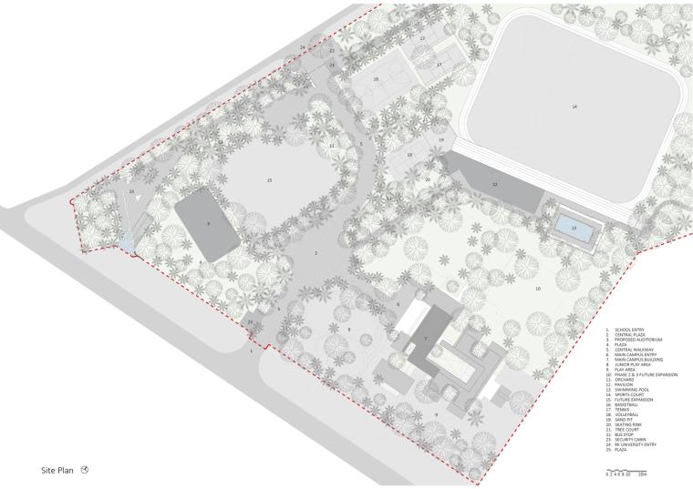 印度北极星学校平面图1