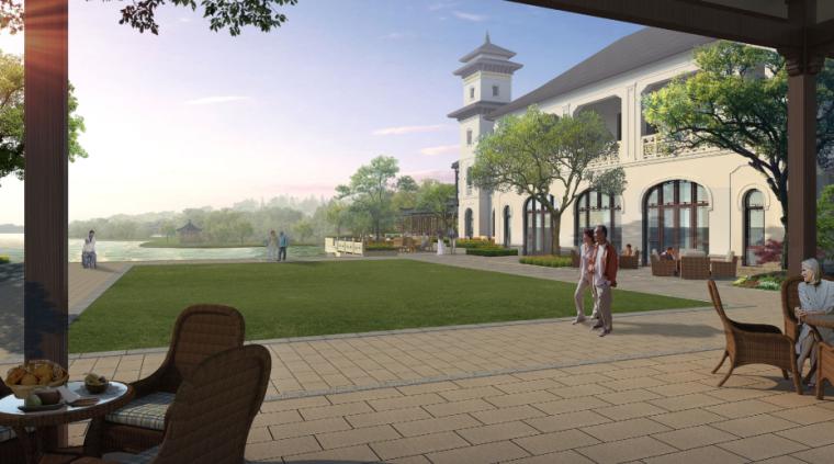 [浙江]乌镇社区文化中心老年公寓景观方案-效果图2