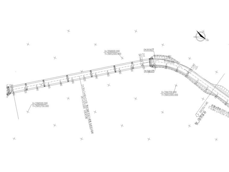某道路及桥梁工程全套施工图含招标文件-公路平面设计图