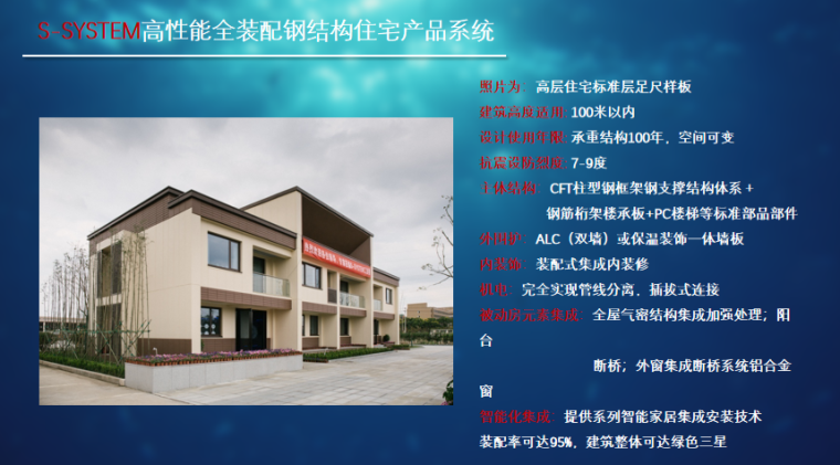 钢结构住宅的产品化集成与装配式建造-S-SYSTEM高性能全装配钢结构住宅产品系统