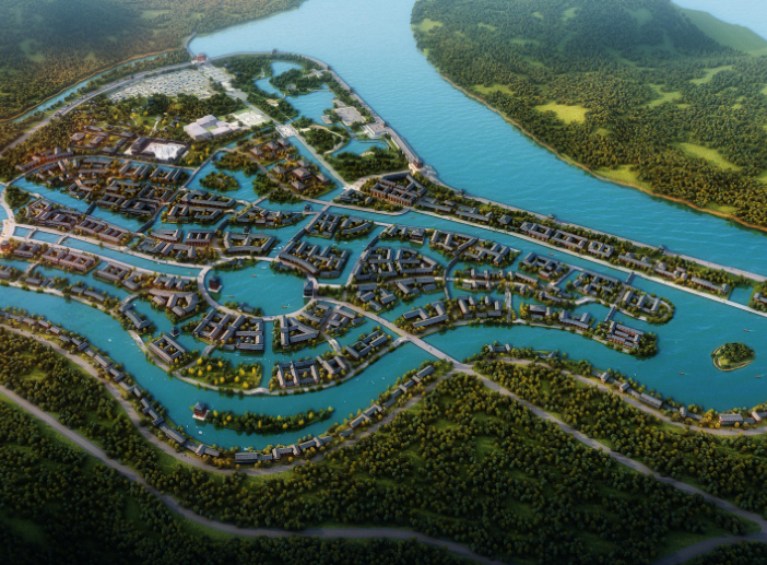 里耶古城旅游区修建性详细规划设计文本2015-鸟瞰图2