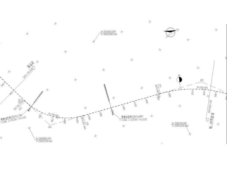 某道路及桥梁工程全套施工图含招标文件-路线平面图