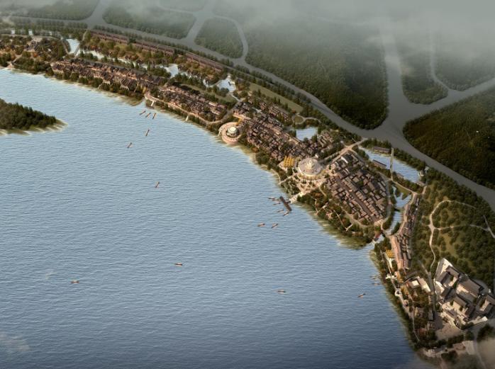 湘潭窑湾文化旅游街区修建性详细规划设计-鸟瞰图