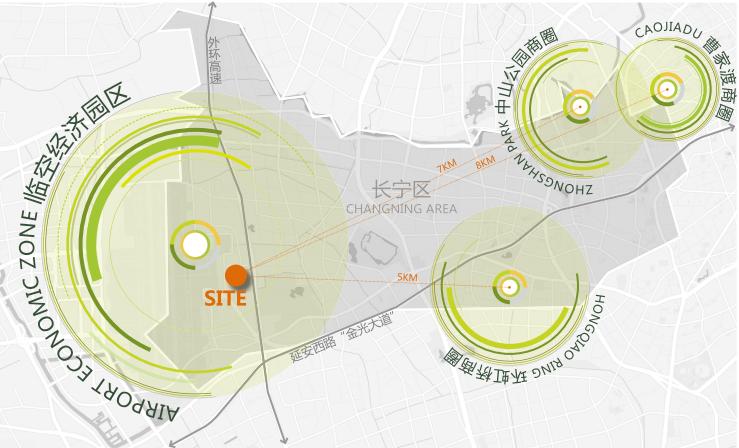 上海虹桥航空产业园生态建筑街区及景观规划-区域属性