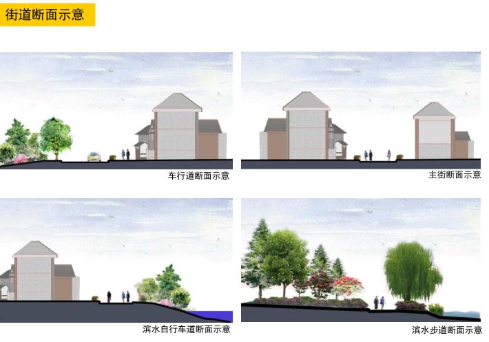 湘潭窑湾文化旅游街区修建性详细规划设计-街道断面示意