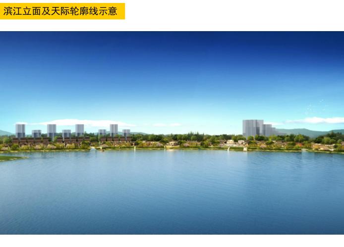 湘潭窑湾文化旅游街区修建性详细规划设计-滨江立面及天际轮廓线示意