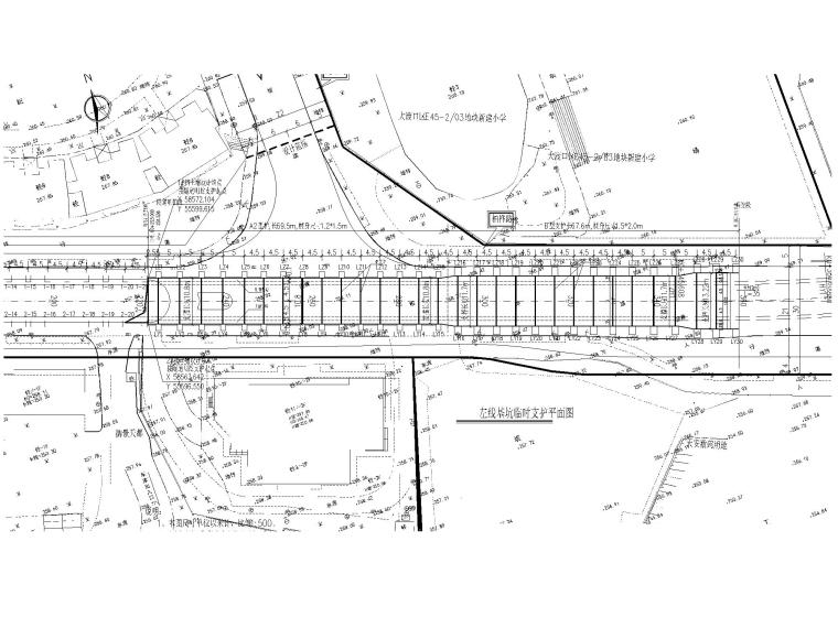 [重庆]城市次干道高边坡挡墙施工设计图-支挡结构平面布置图2