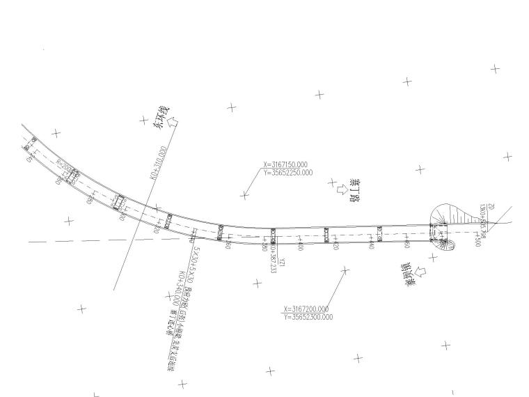 某道路及桥梁工程全套施工图含招标文件-公路平面总体设计图