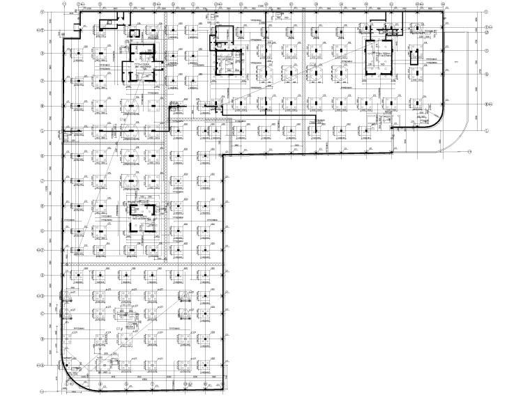 [上海]单层框架结构地下车库全套图纸2017-基础平面图