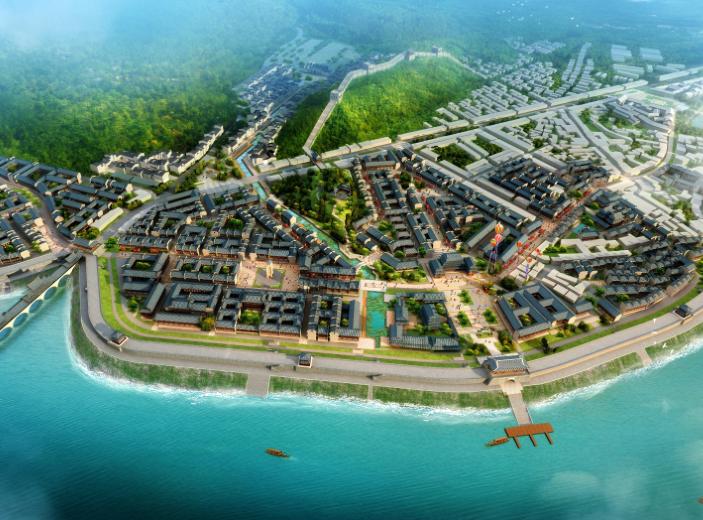 里耶古城旅游区修建性详细规划设计文本2015-鸟瞰图1