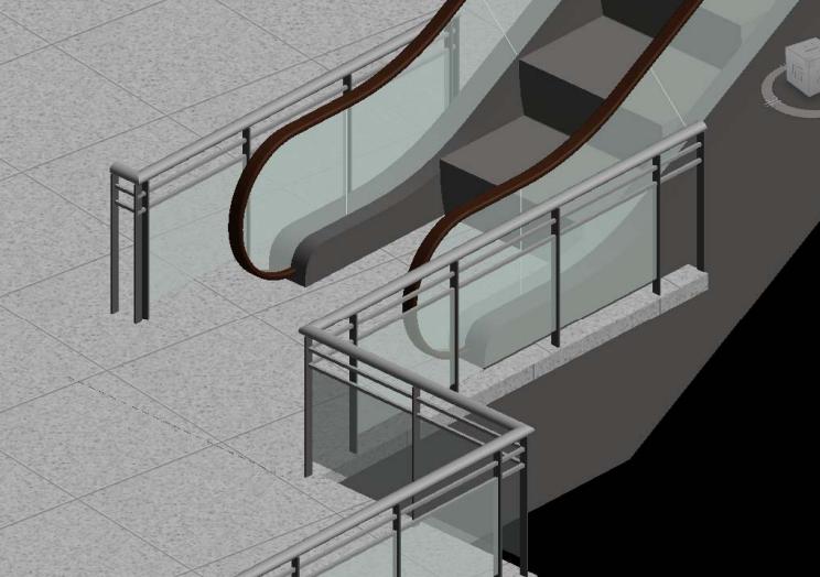 重庆机场航站楼BIM施工运维阶段应用(89页)-上扶梯局部