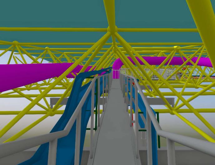 重庆机场航站楼BIM施工运维阶段应用(89页)-双柱网架施工优化