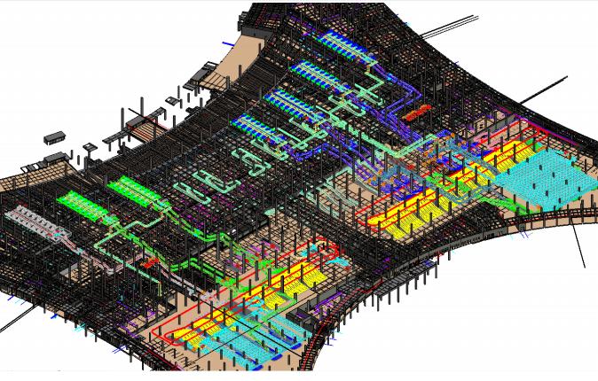 重庆机场航站楼BIM施工运维阶段应用(89页)-行李系统模型