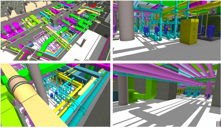 重庆机场航站楼BIM施工运维阶段应用(89页)-空调机房模型