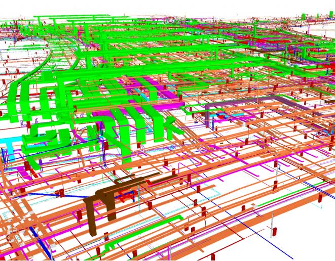 重庆机场航站楼BIM施工运维阶段应用(89页)-BIM-MEP模型