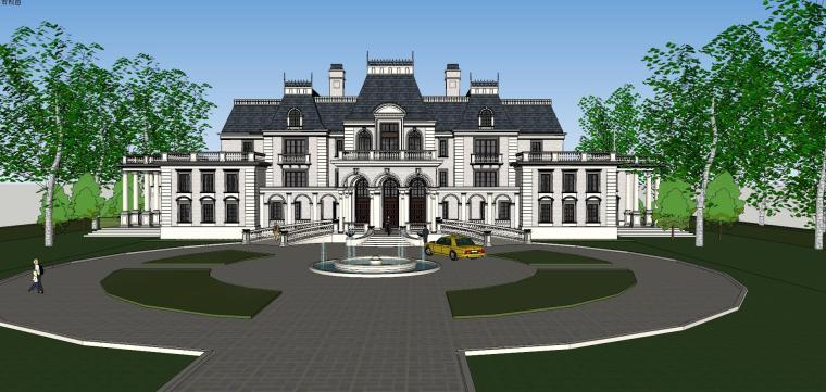 [福建]福州法式风格独栋豪宅建筑模型设计-福州法式风格独栋豪宅建筑模型设计 (3)